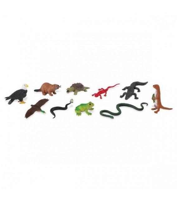 Zvieratka pri rieke Safari miniatury