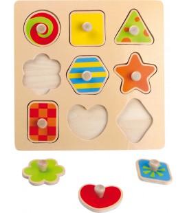 Vkladacie puzzle Tvary