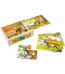 Obrázkové kocky - farma