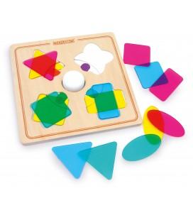 Puzzle - miešanie farieb