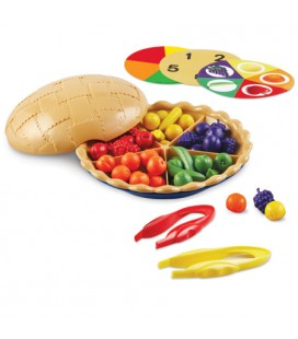 Koláč s ovocím (na triedenie a počítanie)