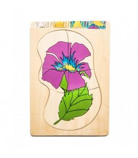Viacvrstvové puzzle Kvet
