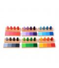 Tieňovanie farieb s panáčikmi