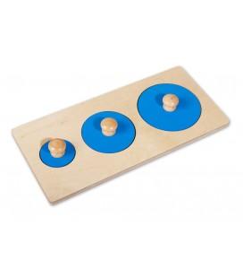 Montessori puzzle 3 kruhy