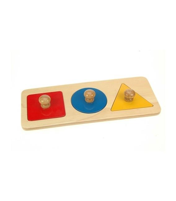 Montessori puzzle 3 geometrické tvary
