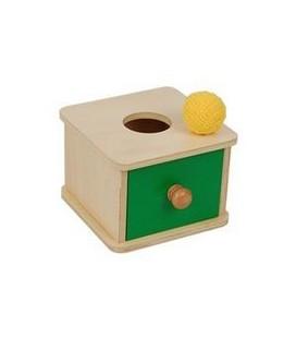 Krabička so zásuvkou a guličkou
