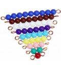 Farebné perlové schody (1- 9)