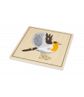 Montessori puzzle Vták (s kostrou)