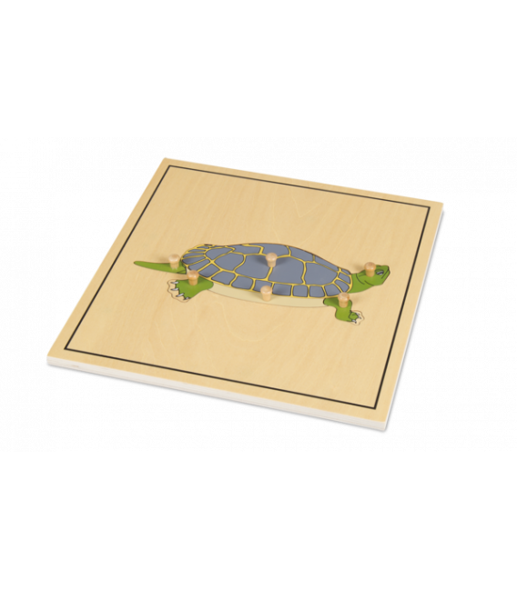 Montessori puzzle korytnacka