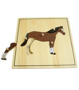 Montessori puzzle Kôň (s kostrou)