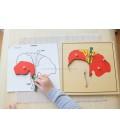 Montessori puzzle Kvet