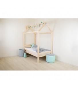 Montessori detská postieľka Happy (prírodné drevo)