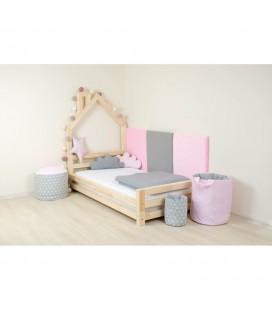 Montessori detská postieľka Wally (prírodné drevo)