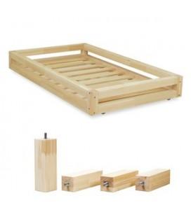 Šuplík 2v1 k Montessori postieľkam Happy a Wally (prírodné drevo)
