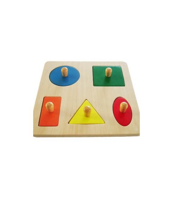 Montessori puzzle geometricke tvary