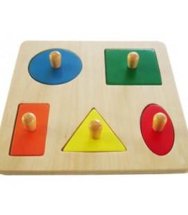 Montessori puzzle 5 geometrických tvarov