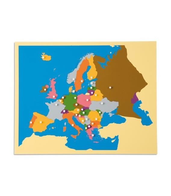 Montessori mapa Európy