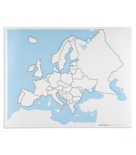 Obrysová mapa Európy (bez popiskov)