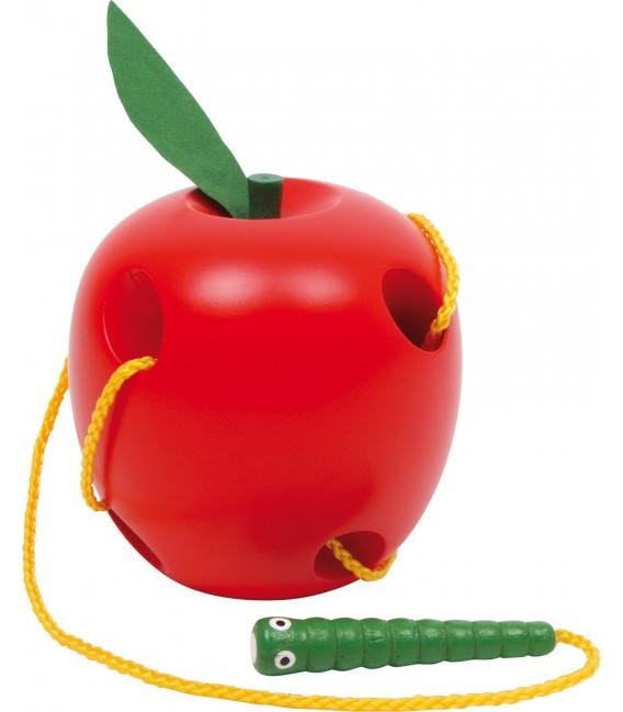 Jabĺčko s červíkom na prevliekanie