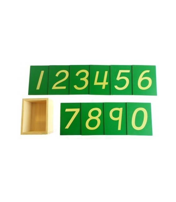 Šmirgľové číslice s krabičkou