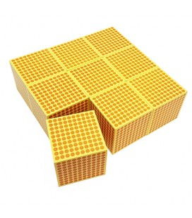 9 ks drevených tisíckových kociek