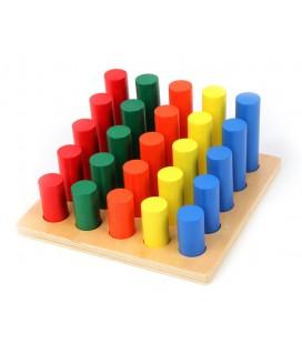 Farebné valce rebrík