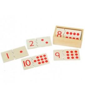 Montessori puzzle čísla a bodky