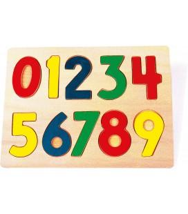 Puzzle farebné čísla