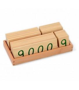 Veľké drevené karty 1-9000