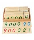 Malé drevené karty 1-9000
