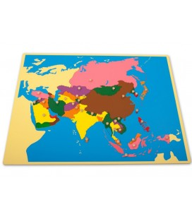 Montessori mapa Ázie