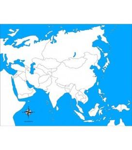 slepá mapa Ázie (bez popiskov)