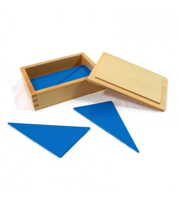 Modré trojuholníky v krabičke