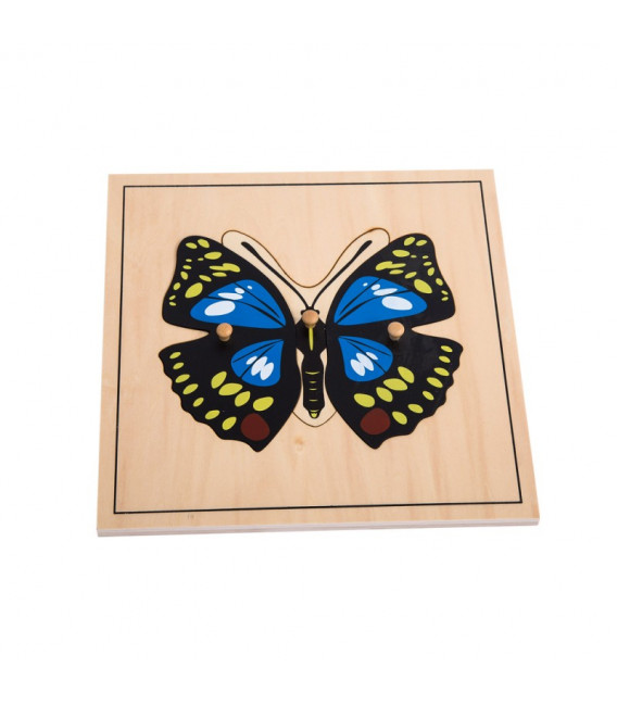 Montessori puzzle Motýľ