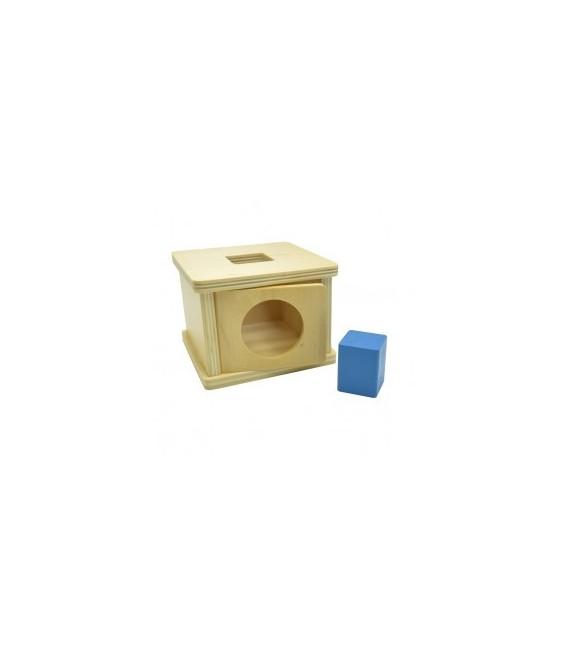Krabička s hranolom (so štvorcovou podstavou)