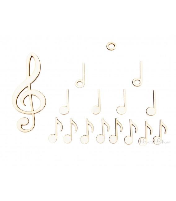Noty a husľový kľúč