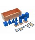 Montessori geometrické telesá, modré