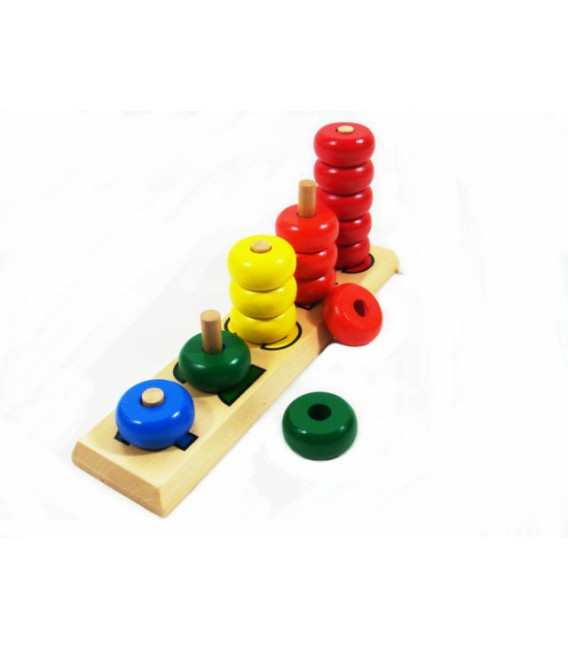 Montessori tyčky s kruhmi 1 až 5