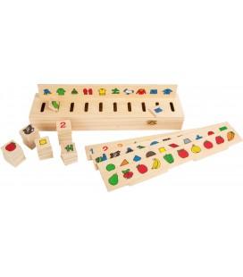 Obrázkový triediaci box (čísla, tvary, predmety)