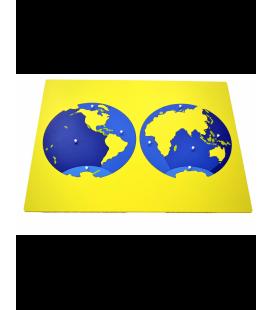 Montessori mapa oceánov