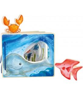 Drevená knižka Pod hladinou mora