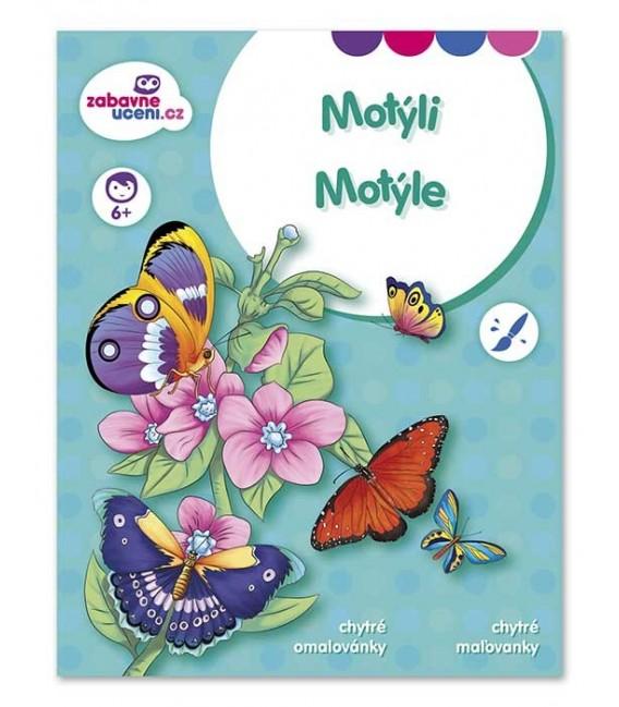 Vedomostné omaľovánky - Motýle