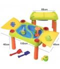Stolík na vodu a piesok pre deti s príslušenstvom