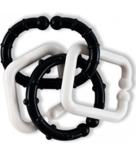 Čiernobiele tvary RETRO, reťaz (10ks)