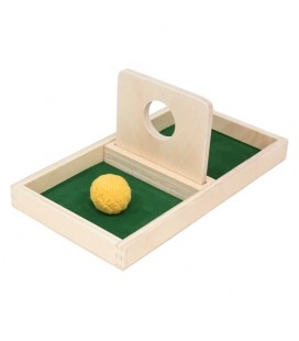 Montessori podnos s kruhovým otvorom