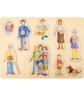 Vkladacie puzzle Rodina a priatelia