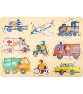 Vkladacie puzzle Doprava v meste