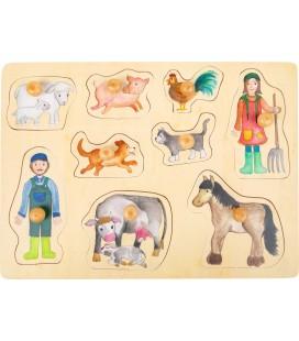 Vkladacie puzzle Na farme