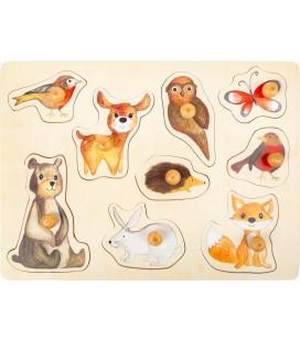 Vkladacie puzzle Lesné zvieratká