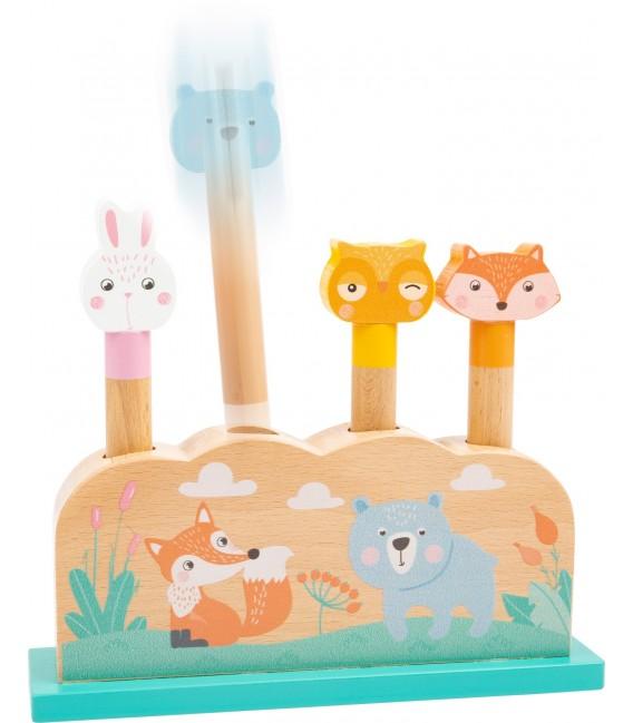 Vyskakovacie kolíky pastelové zvieratká